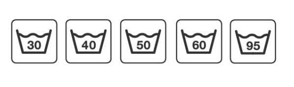 Символи за температура при пране.