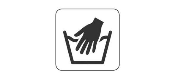 Символ за ръчно пране.