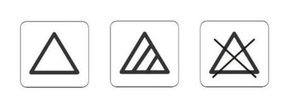 Символи за избелване.