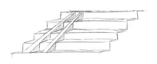 рисунка на стълбище