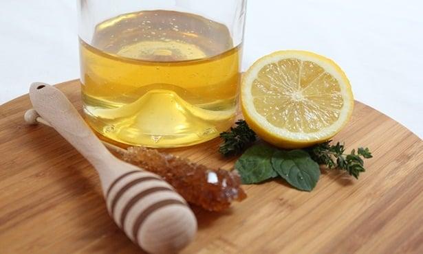 Лимон,мед,зехтин