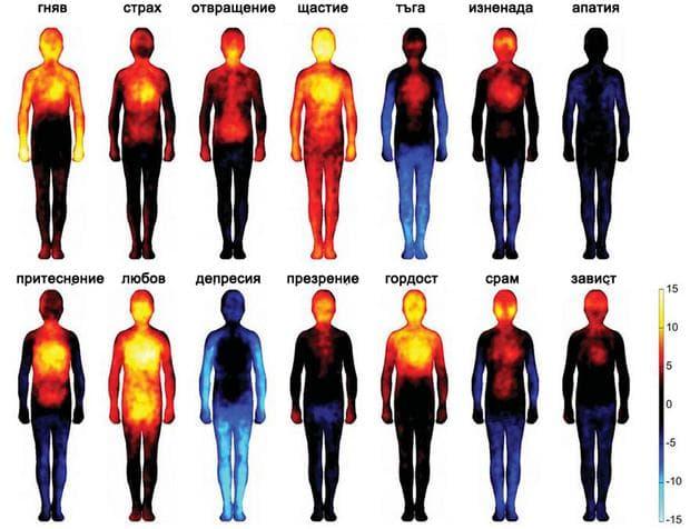 карта на човешките емоции