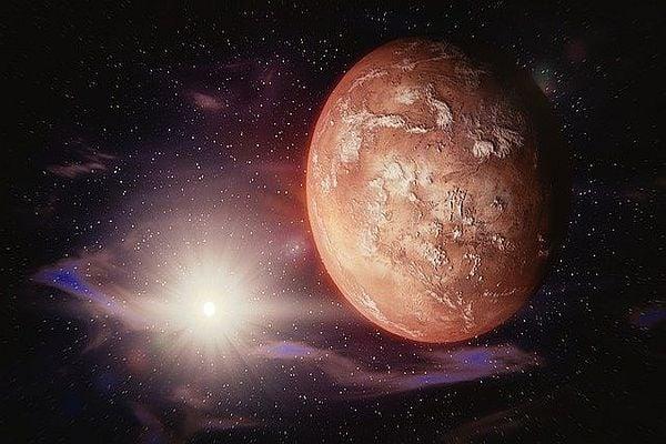 Марс, планета, космос