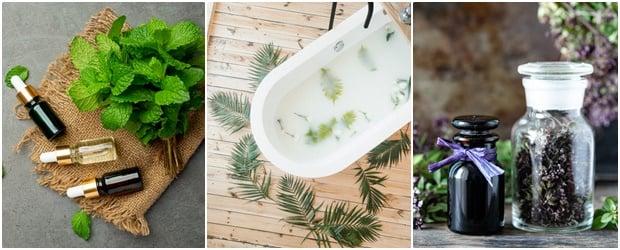 Вани с лечебни растения, билки и етерични масла