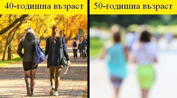 Промени в тялото от 40 до 50-годишна възраст