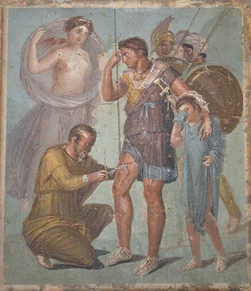 Римски лекар зашива рана