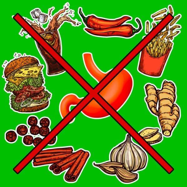 Забранени храни при гастрит