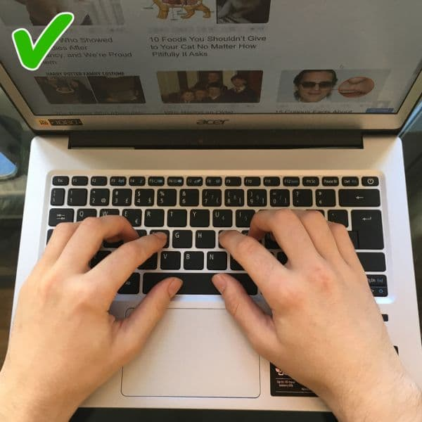 Използване на всички пръсти