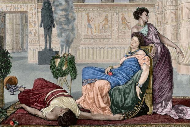 Картина, изобразяваща смъртта на Клеопатра