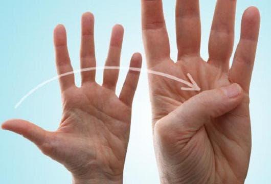 Раздвиждане на палеца