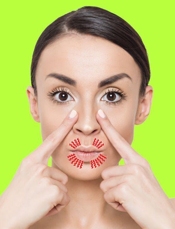 Свиване на устните за намаляване на назолабиалните бръчки