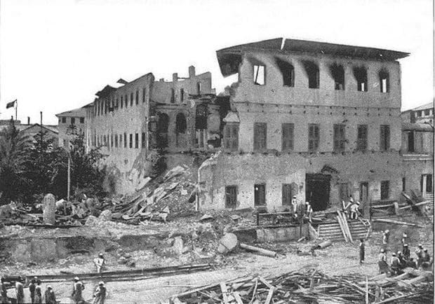 останки от двореца в Занзибар