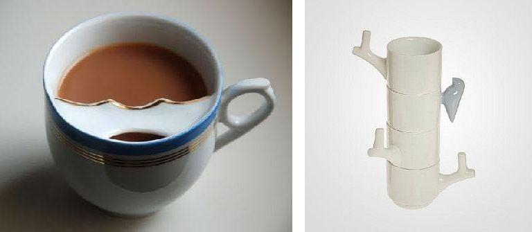 Чаша с мустаци и светещи чаши
