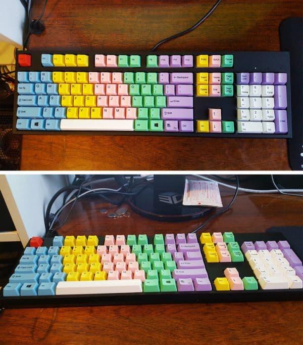 Използване на цветна кодирана клавиатура