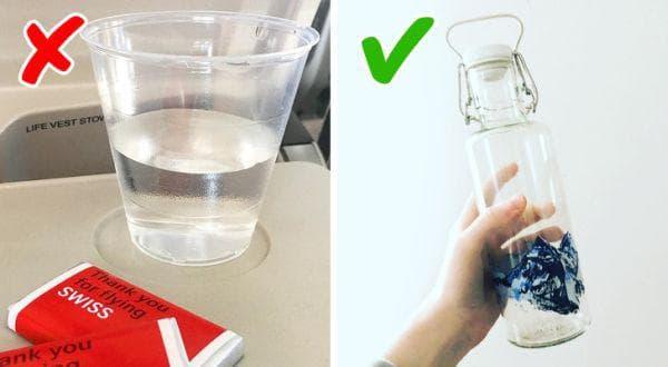 Носене на празна бутилка вода