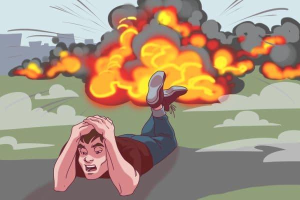 Оцеляване при взрив от бомба