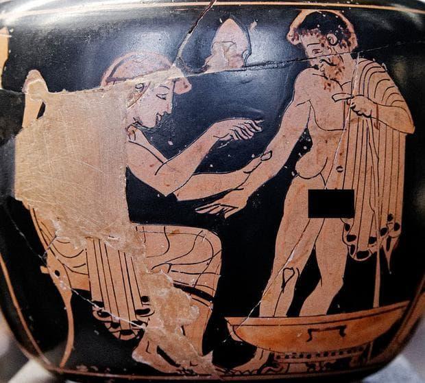 Отстраняване на тумори в Древна Елада, керамика