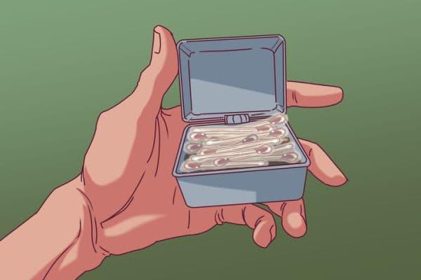Носене на кибритени клечки в кутия