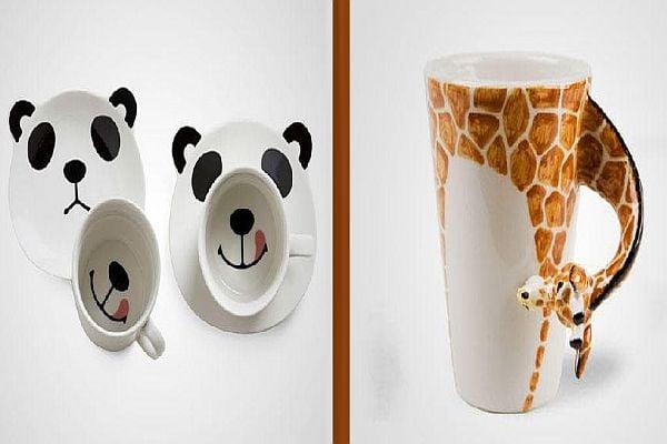Чаши - панда, чаша - жираф