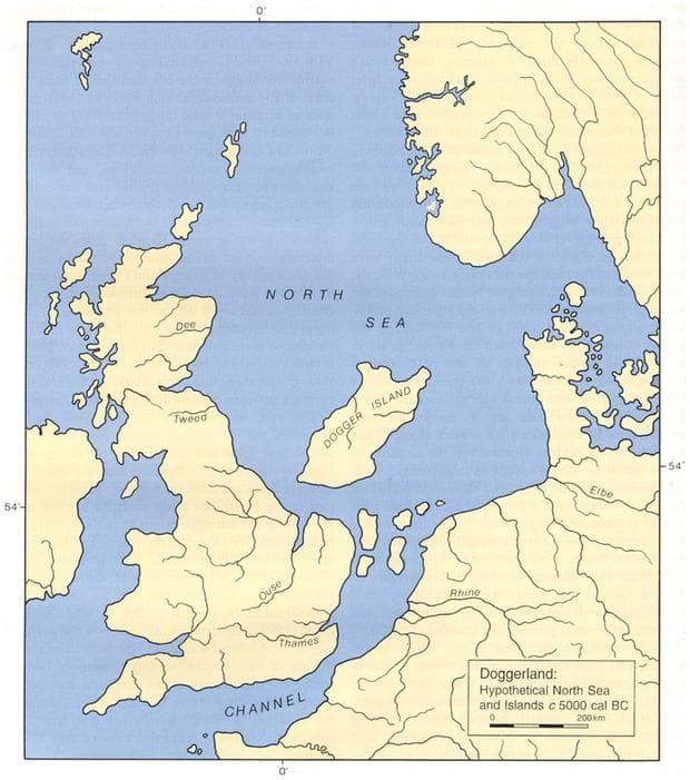 Карта на остров Догерланд