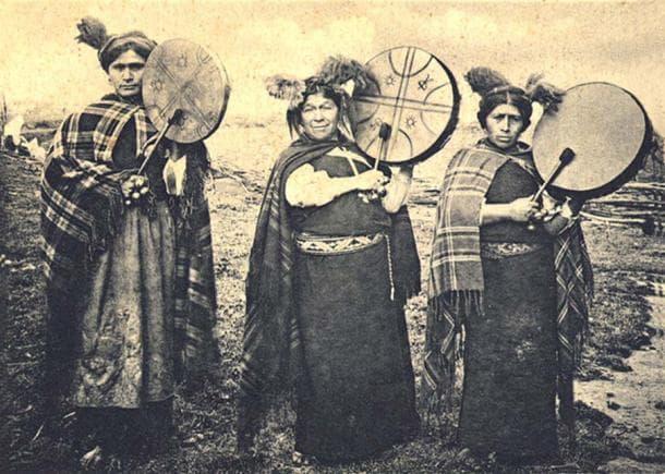 Членове на племето Мапуче