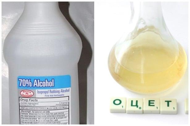 Изопропилов алкохол и оцет