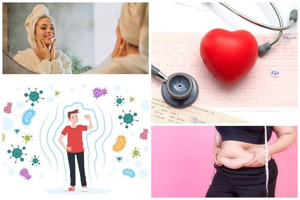 здрава кожа, здраве на сърцето, имунна защита, отслабване