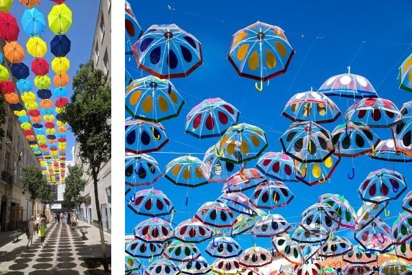 арт инасталация, арт инсталация с чадъри