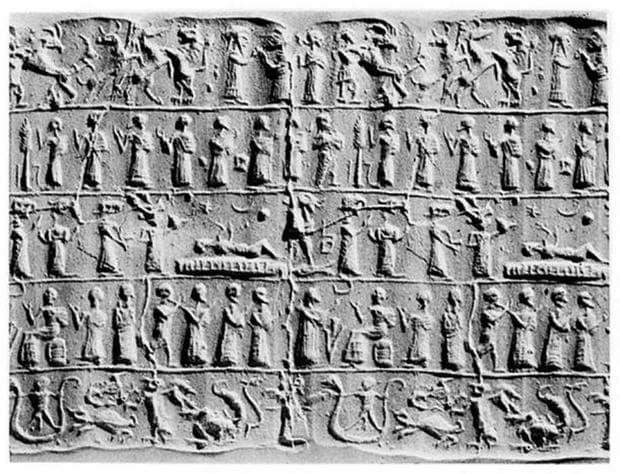 Асирийска плоча, изобразяваща екзорсизъм