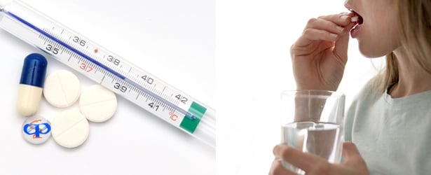 Често използвани антипиретици: парацетамол, ибупрофен, ацетилсалицилова киселина