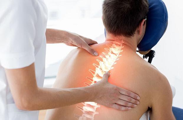 болка в гръдния отдел на гръбначния стълб