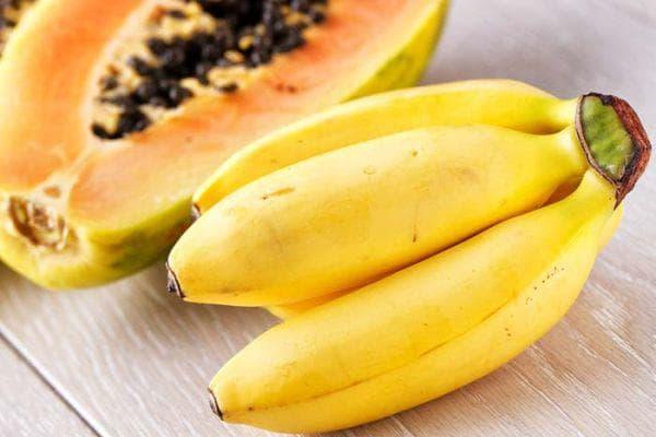 банан и папая