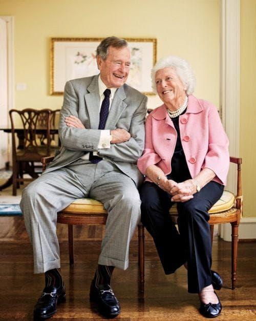Джордж Буш и Барбара Буш