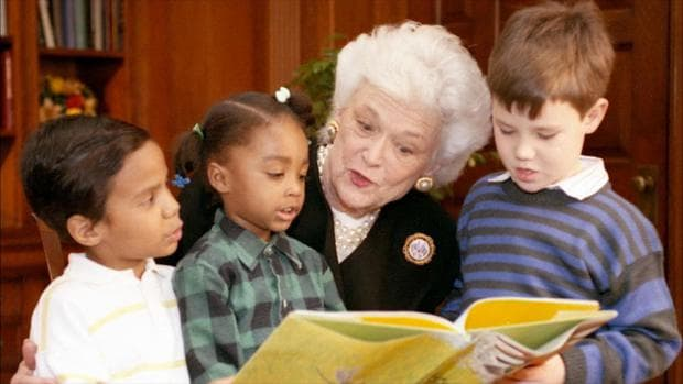 Барбара Буш с деца