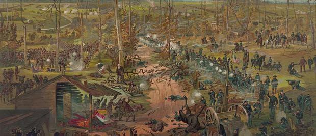 Битката при Шайло, картина