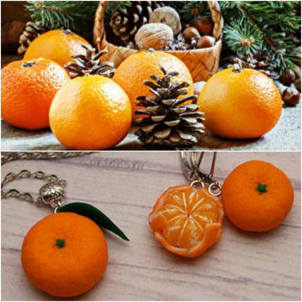 декорация с мандарина