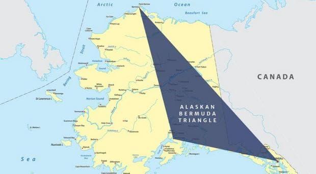 Карта на Бермудския триъгълник на Аляска