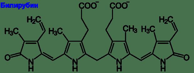 Формула на билирубин