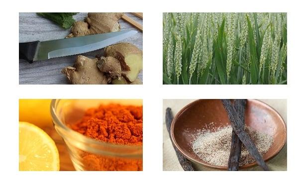 джинджифил,житна трева, лют пипер,ванилия