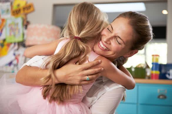 майка и дъщеря, щастие, благодарност