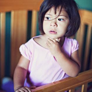 Дете с остър ларинготрахеит