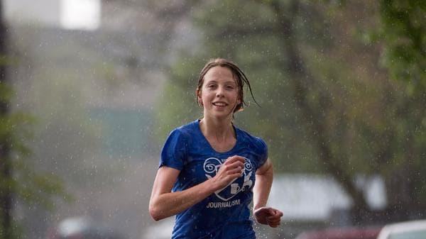 бягане в дъжда