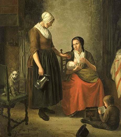 Кърмеща жена, картина
