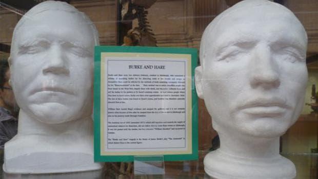 Отливки от лицата на Бърк и Хеър, направен пост мортем