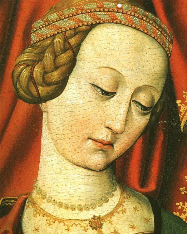 Картина на красива девойка от 15-ти век