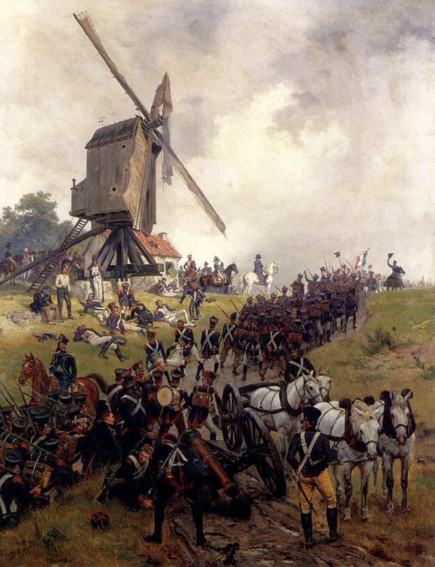 Битката при Ватерло, Картина