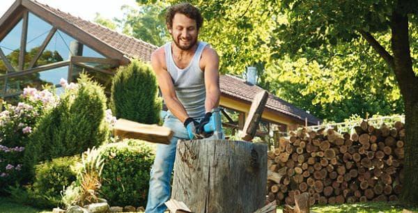 Цепене на дърва - фитнес