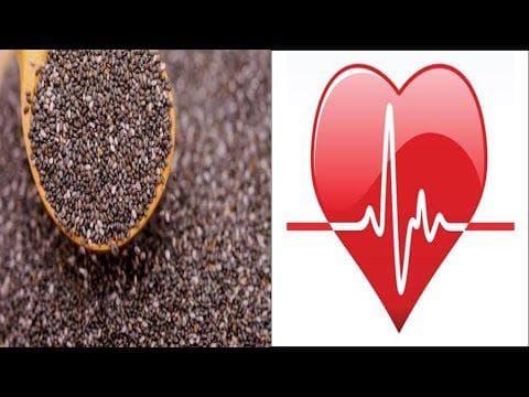 Семена чиа и сърце