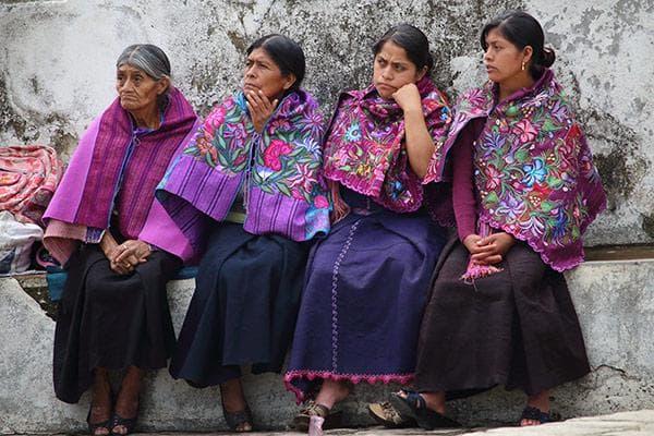 Жени от етноса Цоцил