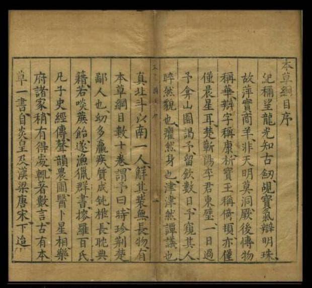 Страници от Бен Као Ганг Му